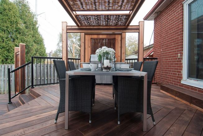 Backyard Transformation Stylish Outdoor Dining - Paul Lafrance Design