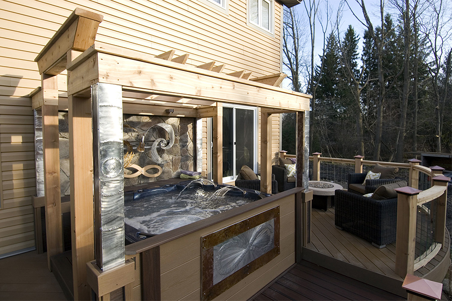 Heavy Metal Deck - Hot Tub Deck Ideas - Paul Lafrance