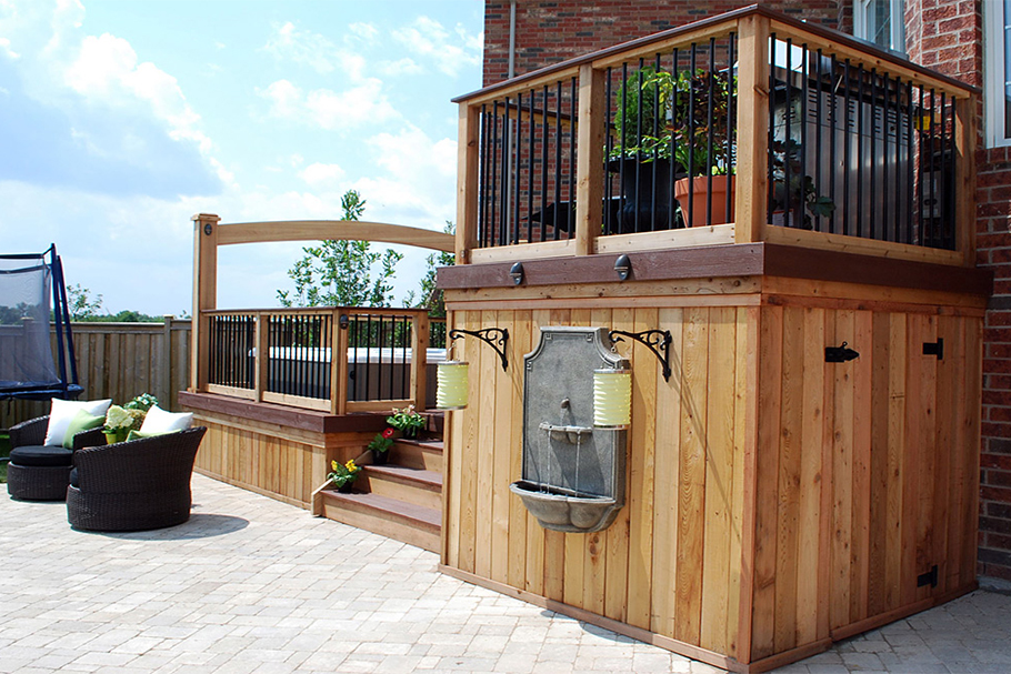 Hot Tub Deck by Paul Lafrance - Outdoor Living Space Ideas