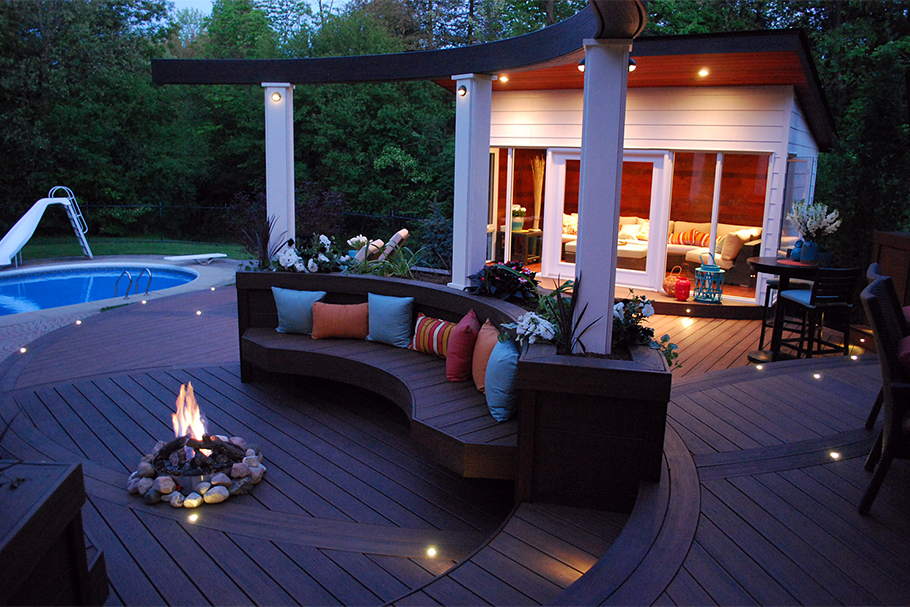 Roudabout Deck - Hot Tub Deck Ideas - Paul Lafrance