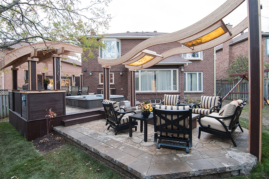 Stone Deck by Paul Lafrance - Outdoor Living Space Ideas